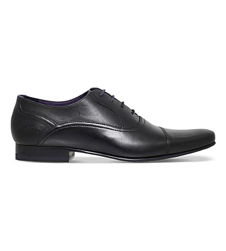 TED BAKER Rogrr 2 leather Oxford shoes (Black
