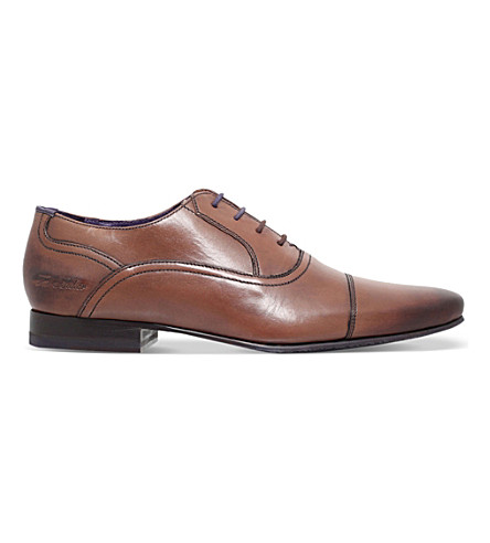 TED BAKER Rogrr 2 leather Oxford shoes (Brown