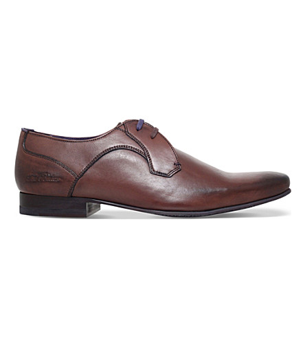 TED BAKER Marrt 2 leather Derby shoes (Brown