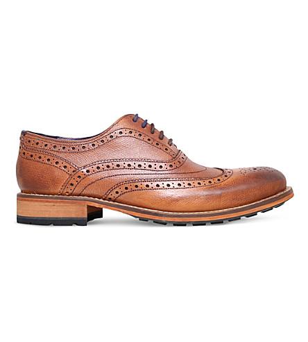 TED BAKER Guri 8 leather oxford brogues (Tan
