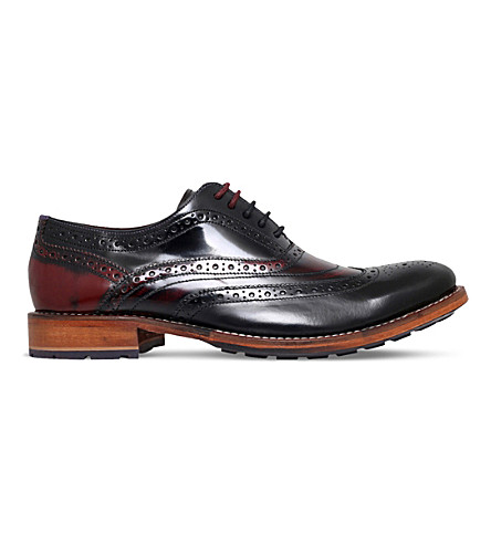 TED BAKER Krelly 2 patent leather oxford brogues (Blk/red