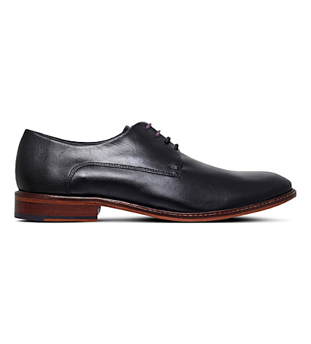 TED BAKER Irron 3 leather derby shoes (Black
