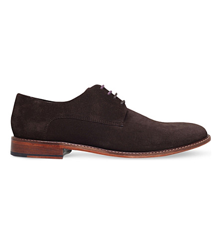 TED BAKER Joehal suede Derby shoes (Brown