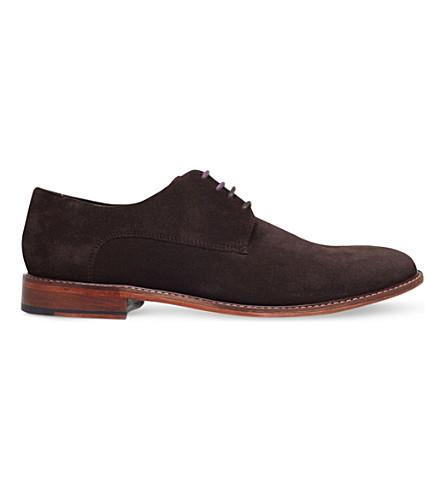 TED BAKER Joehal suede Derby shoes