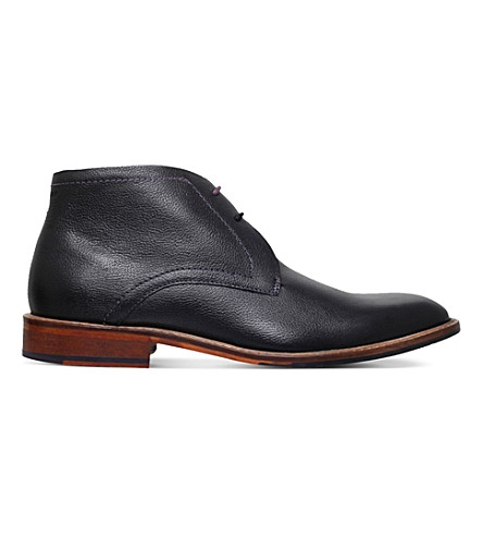 TED BAKER Torsdi 4 leather desert chukka boots (Black