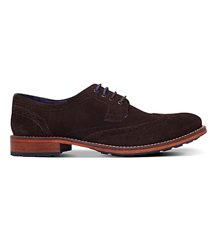 TED BAKER Cassuede suede derby shoes (Brown