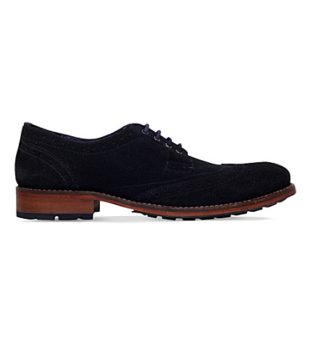 TED BAKER Cassuede WC suede derby shoes (Navy