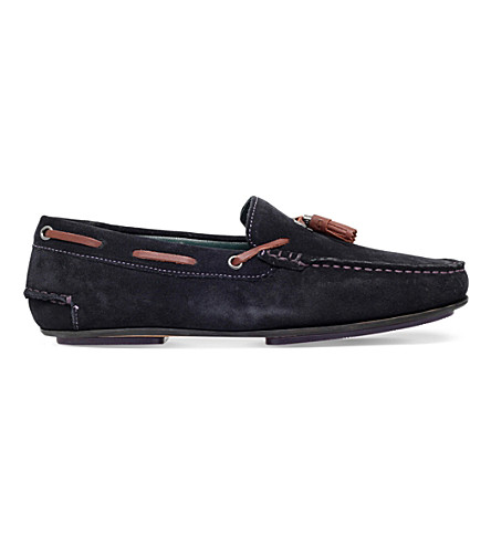 TED BAKER Muddi3 leather driving shoes (Navy