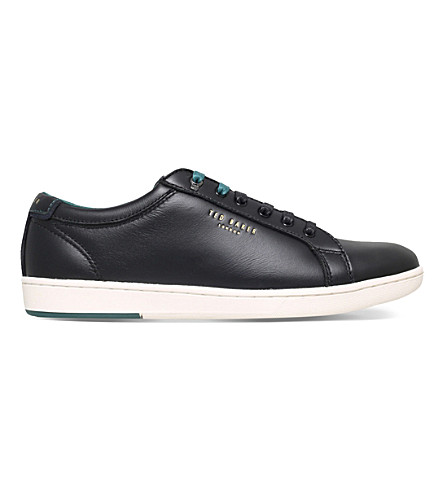 TED BAKER Theeyo leather trainers (Black