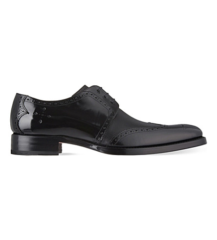 JEFFERY WEST Bay grain wingcap leather Derby shoes (Black