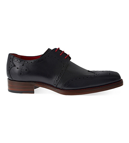 JEFFERY WEST Bay Dexter leather Derby shoes (Navy