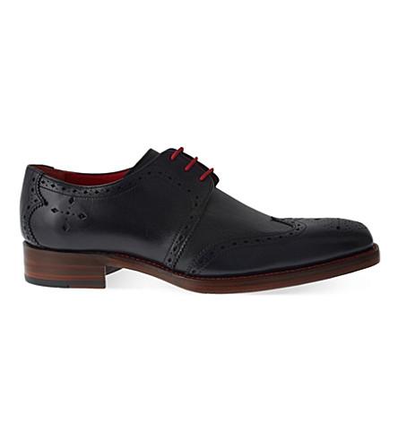 JEFFERY WEST Bay Dexter leather Derby shoes (Navy