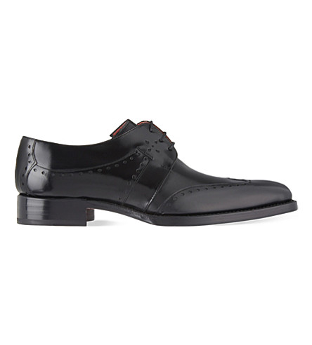 JEFFERY WEST Freebo leather Derby shoes (Black