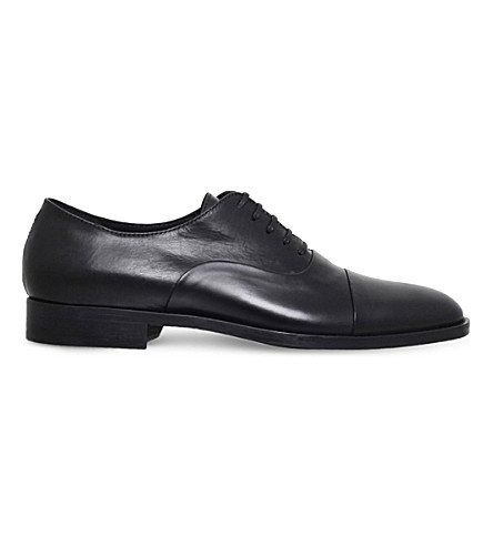 KURT GEIGER LONDON Percival leather oxford shoes (Black