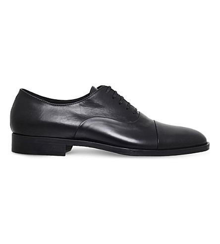 KURT GEIGER LONDON Percival leather oxford shoes (Black