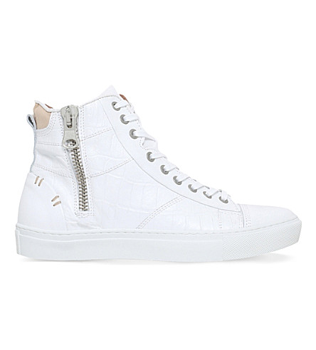 KG KURT GEIGER Procell leather trainers (White