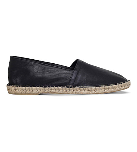 KG KURT GEIGER Pedro leather espadrilles (Black