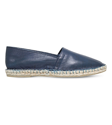 KG KURT GEIGER Pedro leather espadrilles (Navy