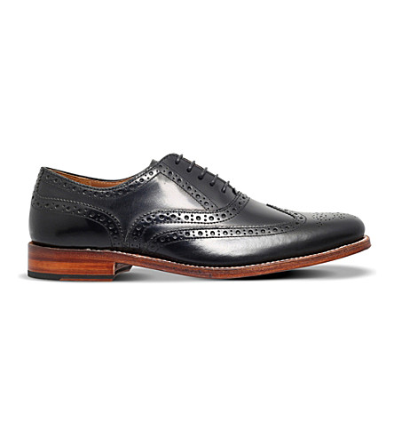 GRENSON Dylan leather brogues (Black