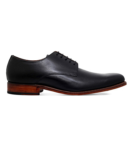 GRENSON Tobby leather derby shoes (Black