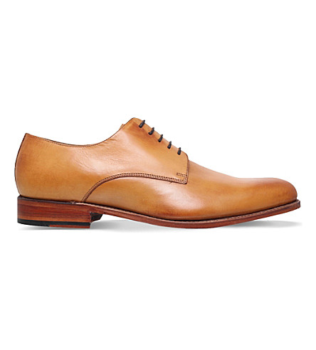 GRENSON Tobby leather derby shoes (Tan