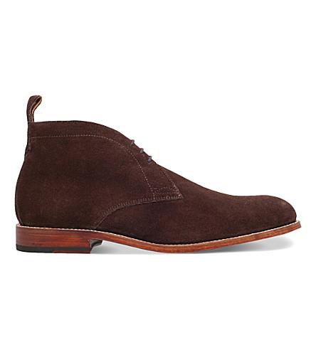 GRENSON Marcus suede desert boots (Brown