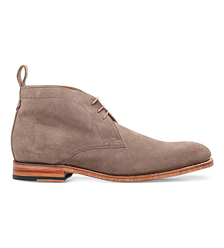 GRENSON Marcus suede desert boots (Taupe