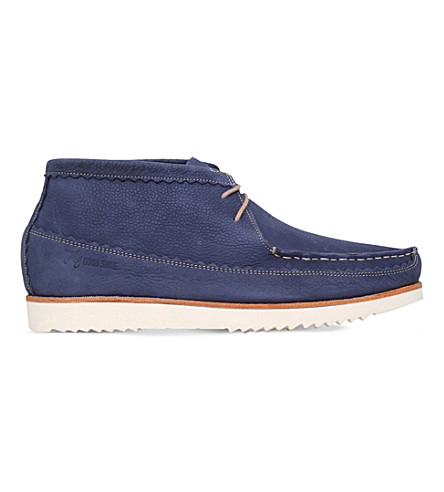GRENSON Oliver leather chukka boots (Blue