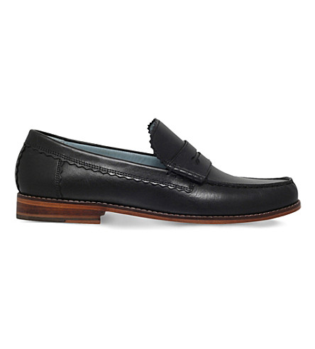 GRENSON Ashley leather penny loafer (Black