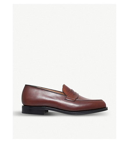 CHURCH Netton leather penny loafers (Mid+brown