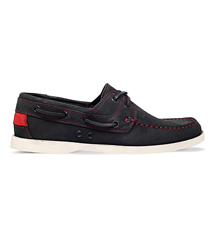 KG KURT GEIGER Sorrento leather boat shoes (Black