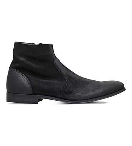 KG KURT GEIGER Reece suede ankle boots (Black