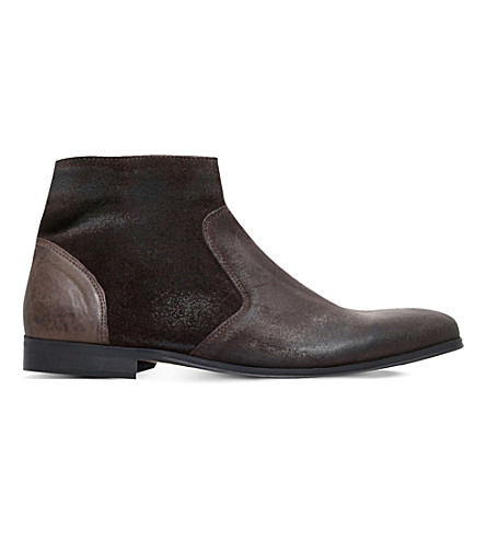 KG KURT GEIGER Reece suede ankle boots (Brown