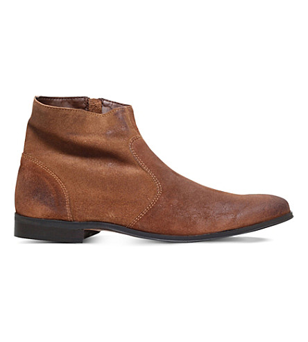 KG KURT GEIGER Reece suede ankle boots (Tan