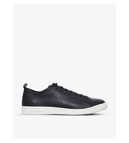 PAUL SMITH Miyata leather trainers (Black