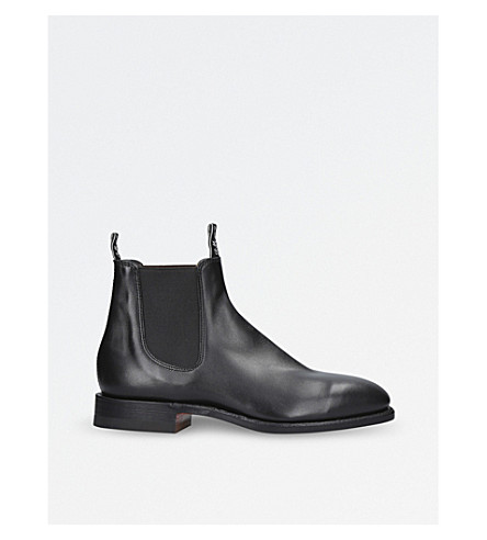 R M WILLIAMS Craftsman leather Chelsea boots (Black
