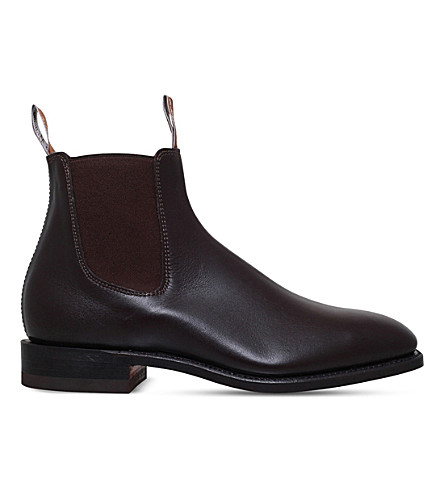 R M WILLIAMS Craftsman leather Chelsea boots (Brown