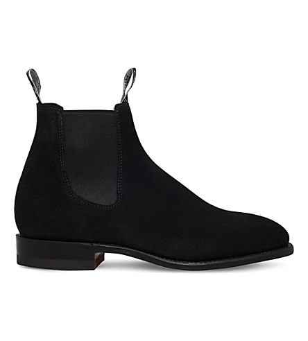 R M WILLIAMS Craftsman suede Chelsea boots (Black