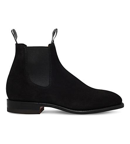 R M WILLIAMS工匠绒面革切尔西靴子 (黑色
