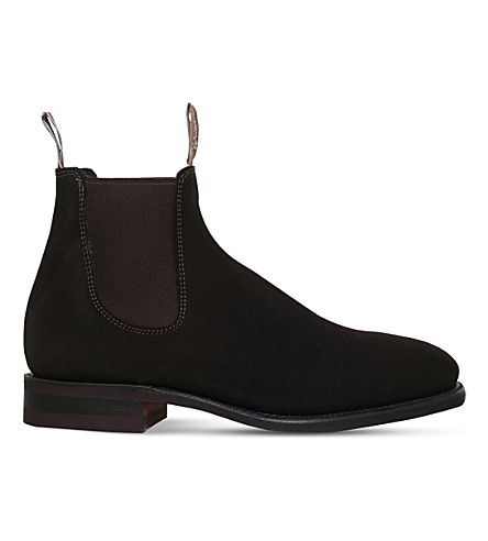 R M WILLIAMS Craftsman suede Chelsea boots (Brown