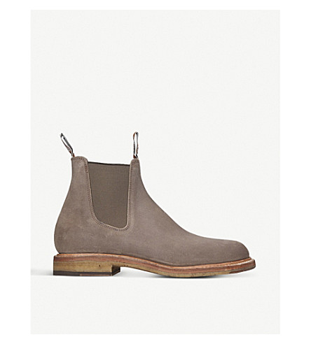 R M WILLIAMS Gilchrist nubuck-leather Chelsea boots (Taupe