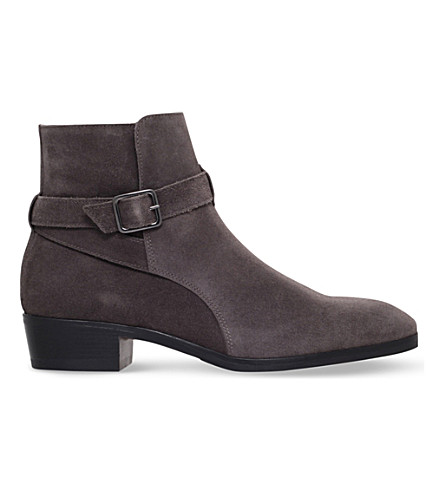 KG KURT GEIGER Ludlam Suede Ankle Boots (Grey/dark
