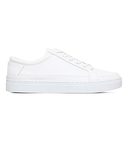 KG KURT GEIGER Phoenix snakeskin-effect leather sneakers (White
