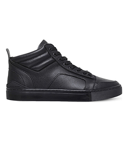 KG KURT GEIGER Kurtis faux-leather sneakers (Black