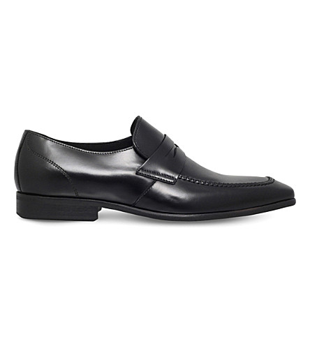KG KURT GEIGER Gingers leather loafers (Black
