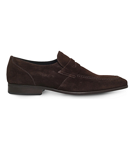 KG KURT GEIGER Gingers suede loafers (Brown
