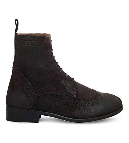 KG KURT GEIGER Howarth suede ankle boots (Brown