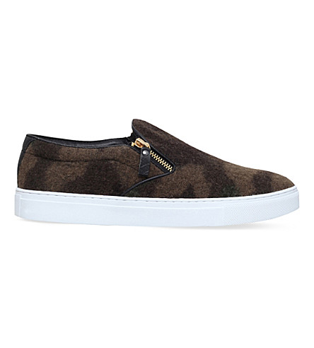KG KURT GEIGER Andy camouflage-print skate shoes (Green+oth