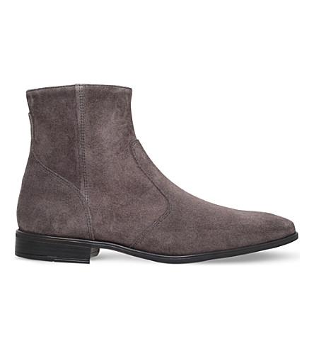 KG KURT GEIGER Boyce suede chelsea boots (Grey/dark
