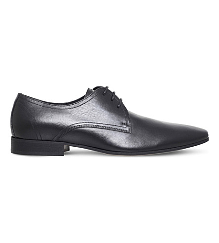 KG KURT GEIGER Santon leather derby shoes (Black
